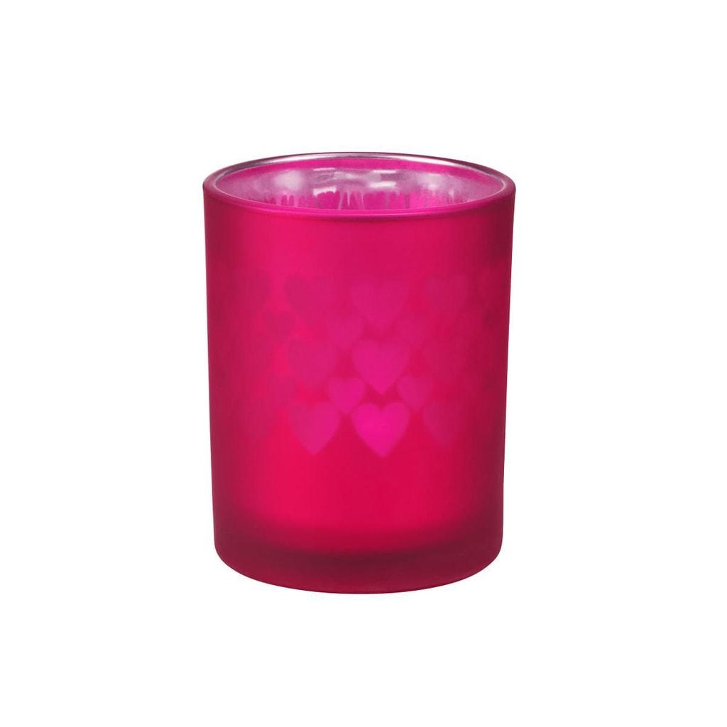Fotografie DELIGHT Svícen na čajovou svíčku srdce malý - vínová