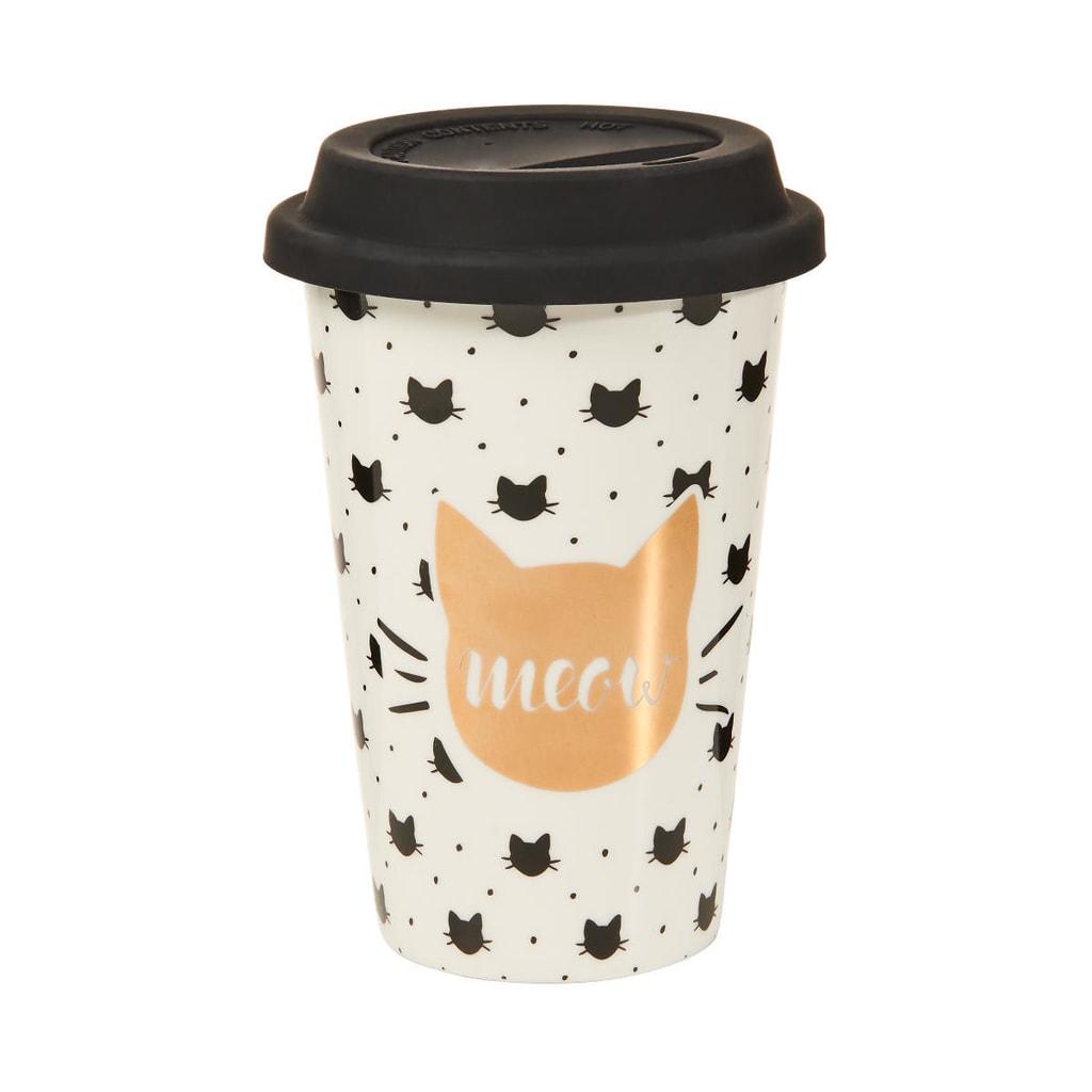 "COFFEE DELUXE Cestovní hrnek na kávu ""Go Meow"""