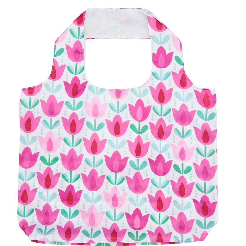 TULIP Taška s tulipány - růžová