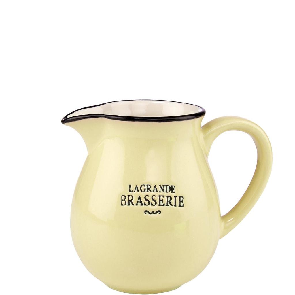 LA GRANDE BRASSERIE Konvička na mléko - žlutá
