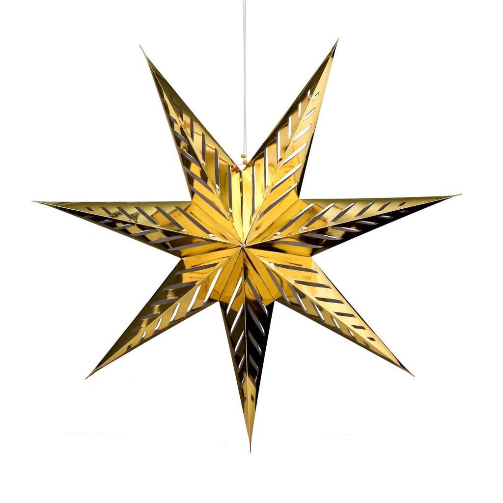 Fotografie LATERNA MAGICA Papírová dekorační hvězda 80 cm - zlatá