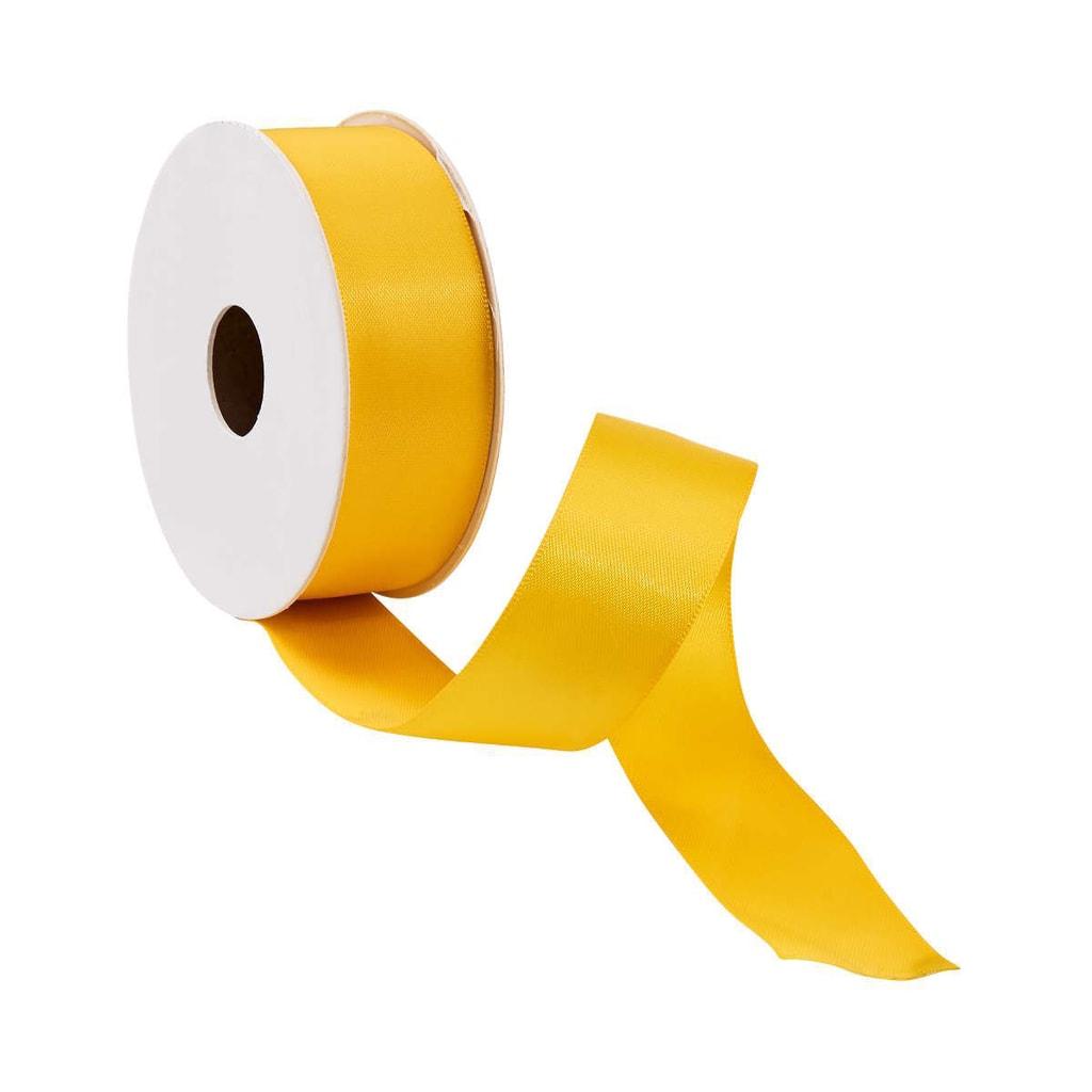 SATIN Dárková stuha široká - žlutá