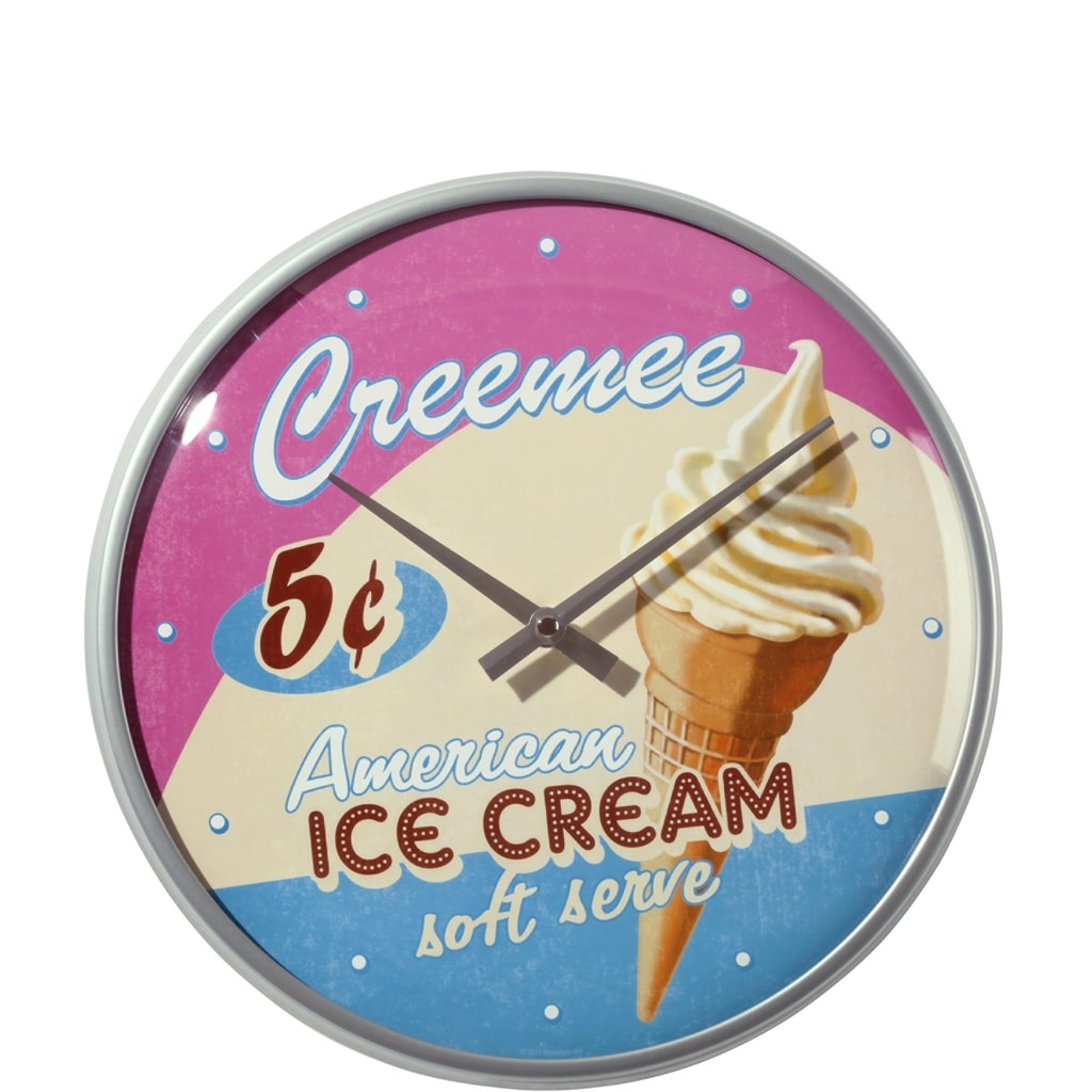 PAST PERFECT Hodiny zmrzlina 31 cm