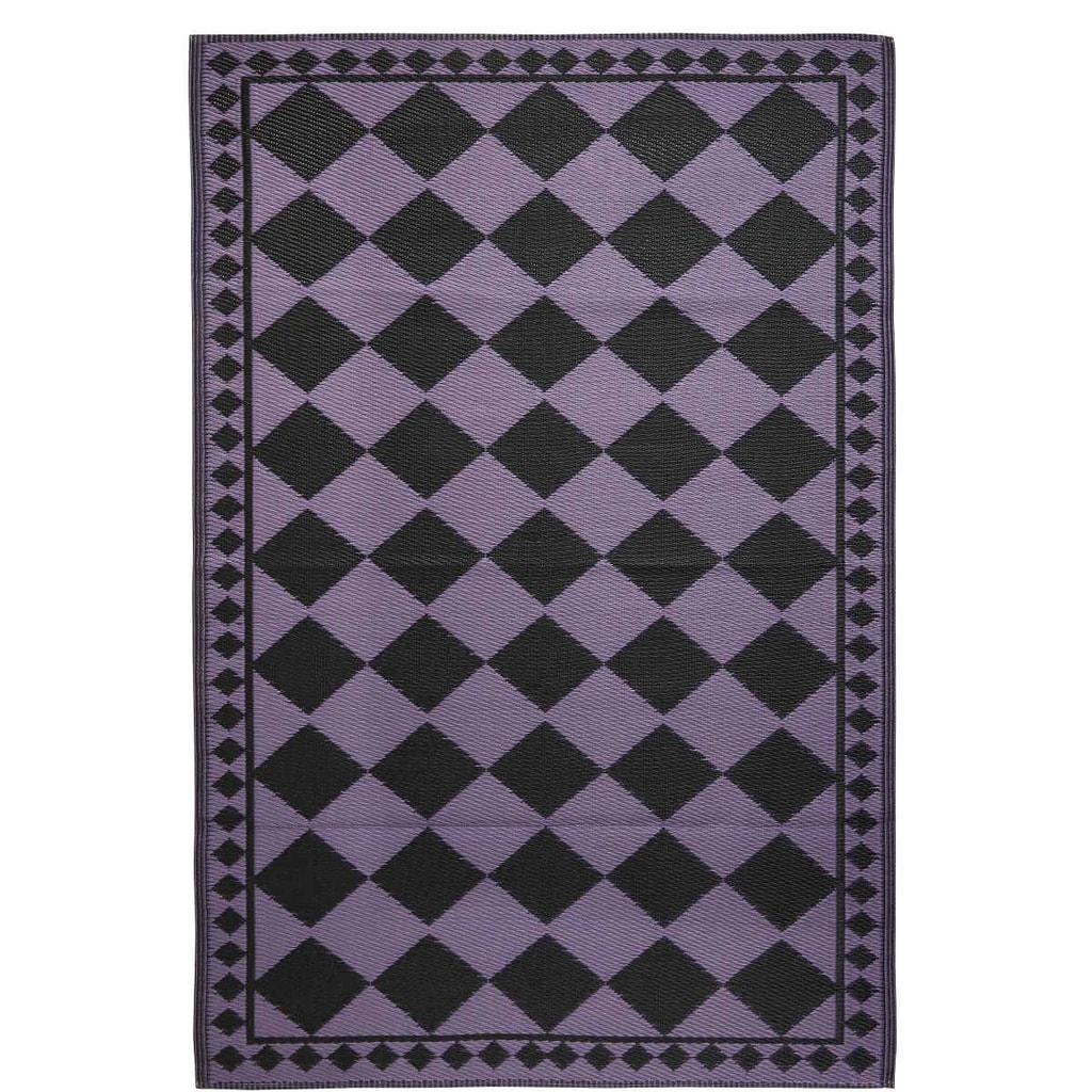 COLOUR CLASH Koberec venkovní 150 x 90 cm - černá/fialová