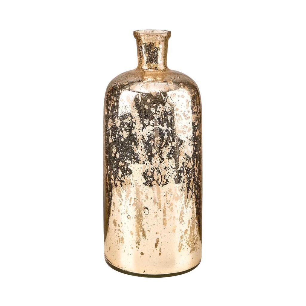 AVA Váza skleněná 33 cm - zlatá