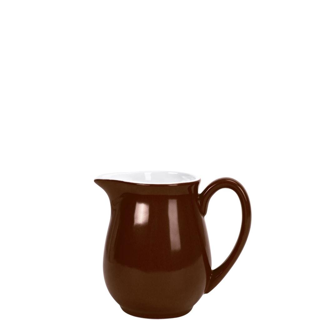 MIX IT! Konvička na mléko 250 ml - hnědá