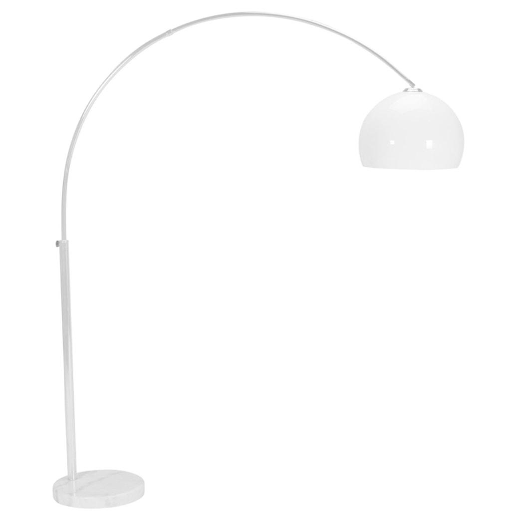 BOW Oblouková lampa chrom/bílá