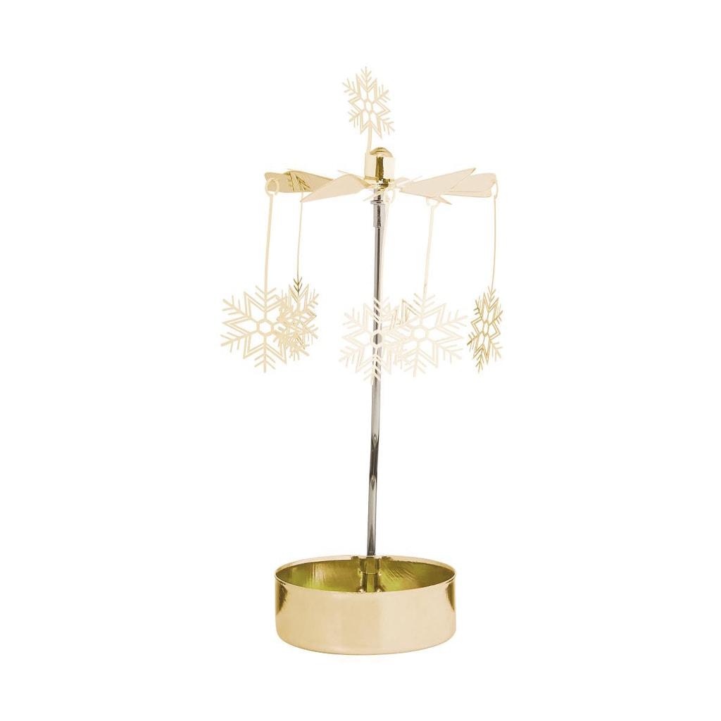 MERRY-GO-ROUND Kolotoč na čajovou svíčku sněhová vločka