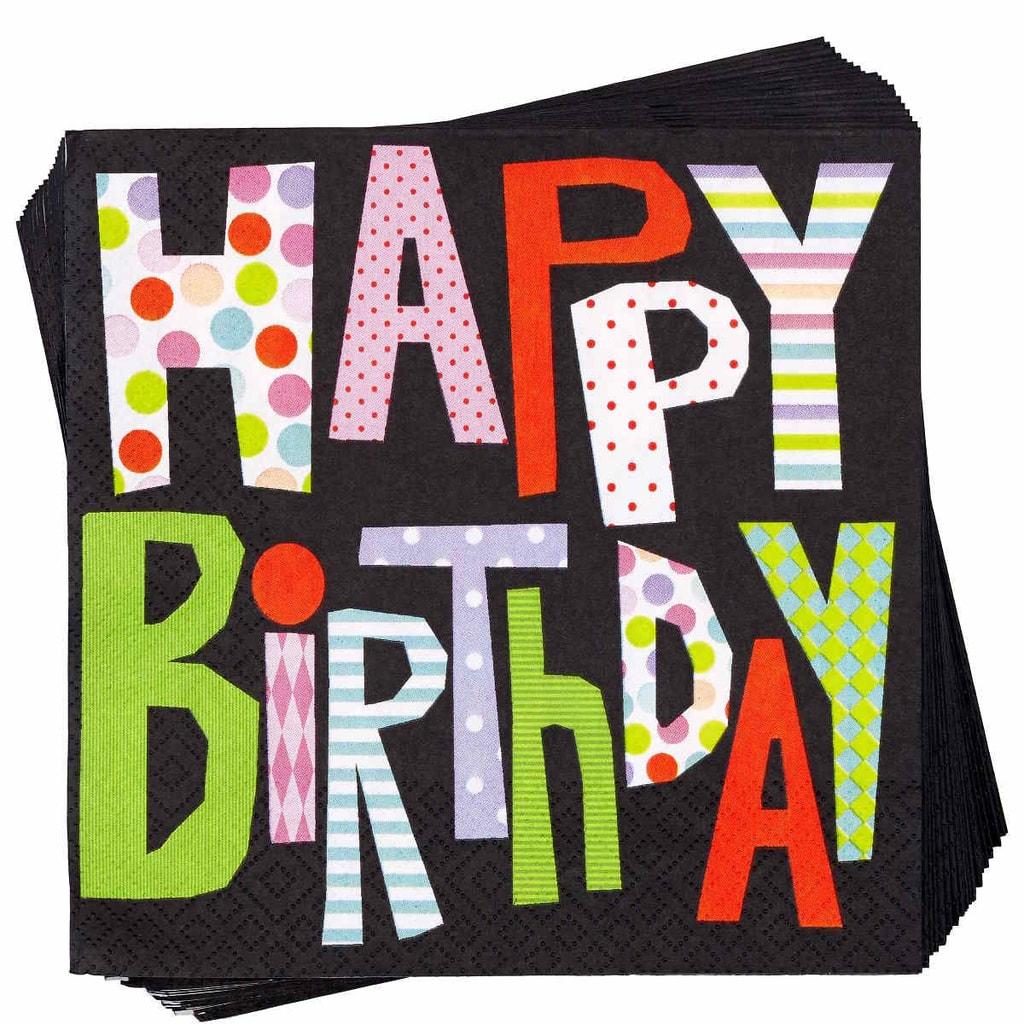 "APRÉS Papírové ubrousky ""Happy Birthday"""