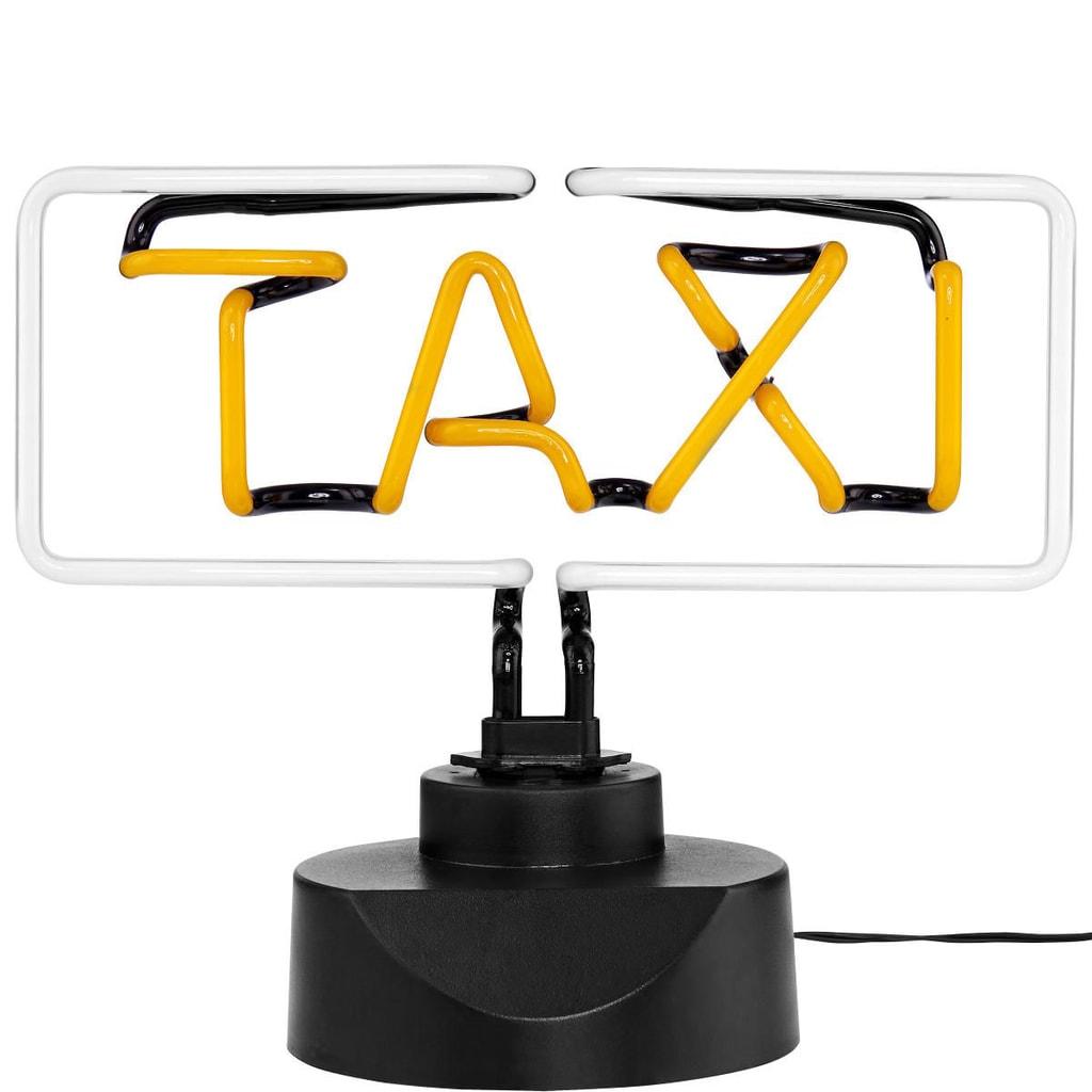 TAXI Neonový svítící nápis