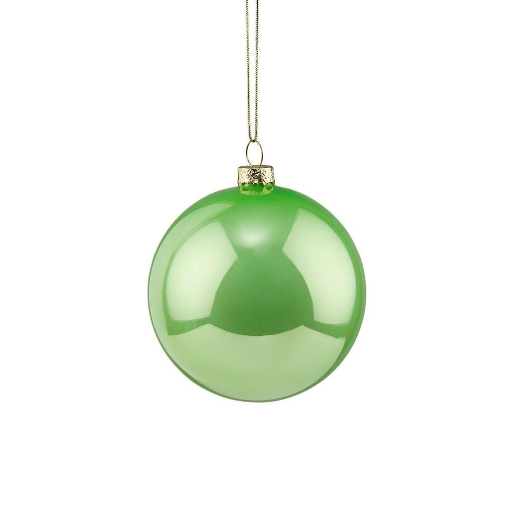 HANG ON Skleněná koule 6 cm - zelená
