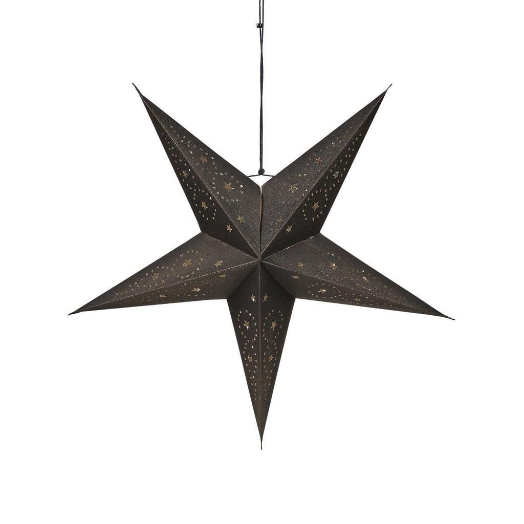 LATERNA MAGICA Papírová dekorační hvězda 60 cm - černá
