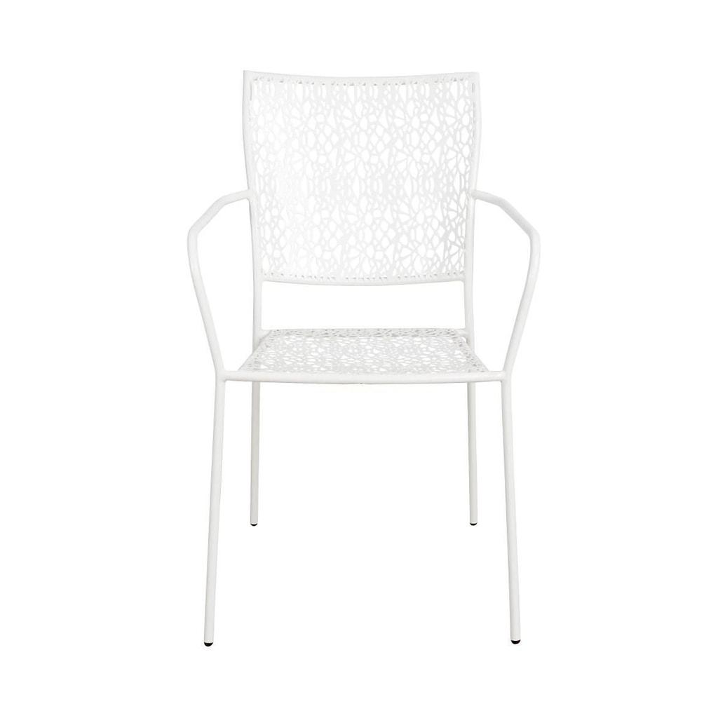 NANCYŽidle s područkami - bílá