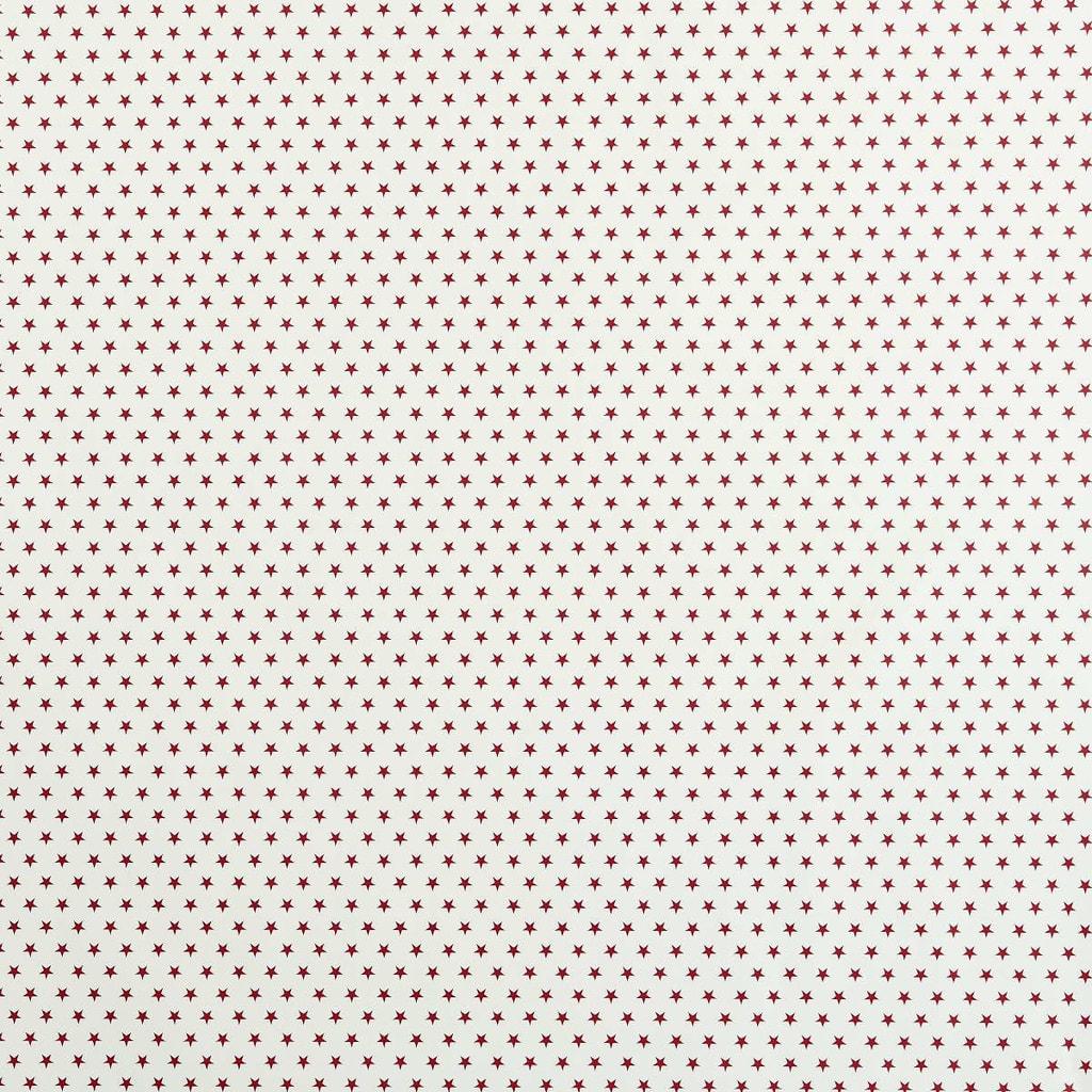 STARS Dárkový balící papír - bílá/červená