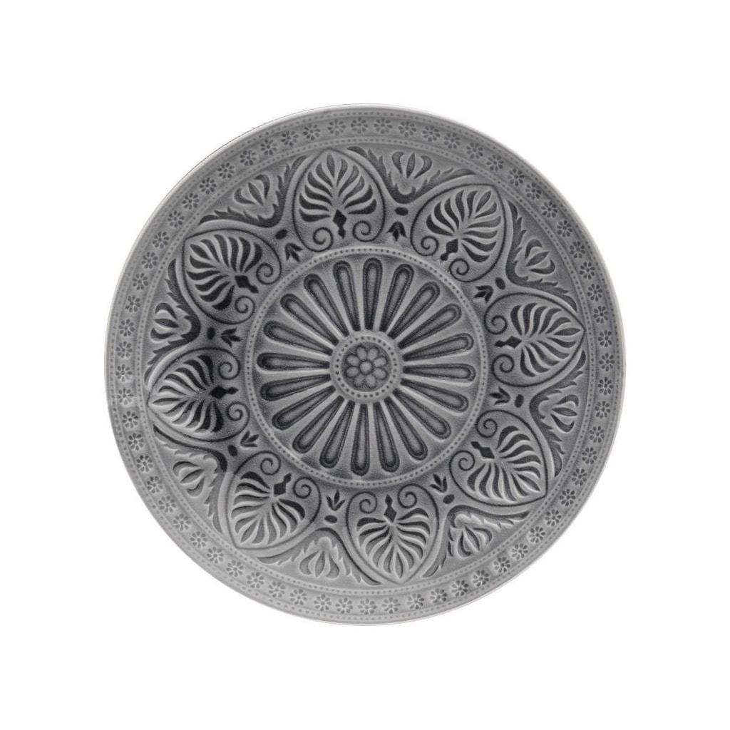 SUMATRA Talíř 25 cm - šedá
