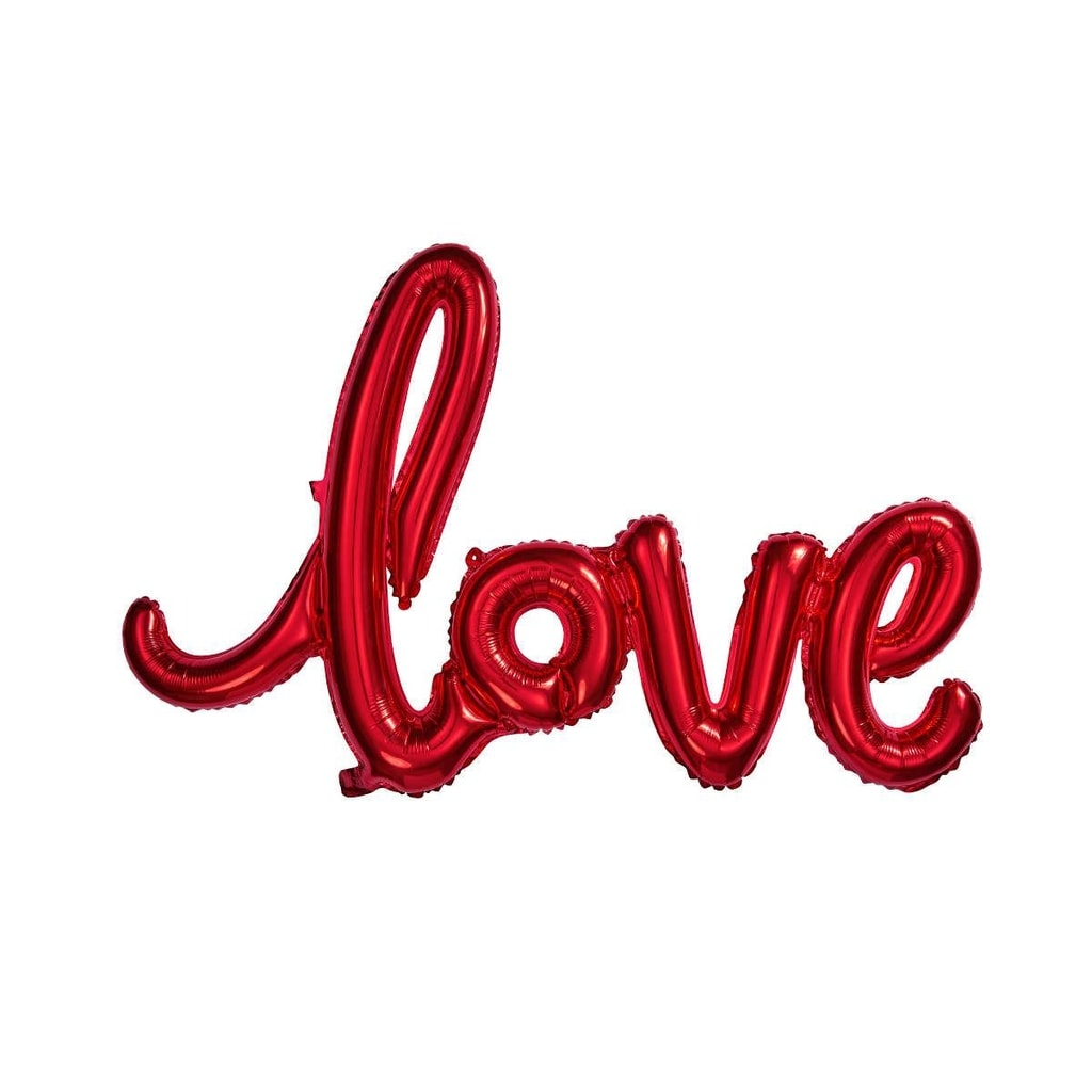 "UPPER CLASS Fóliový balónek ""LOVE"" - červená"