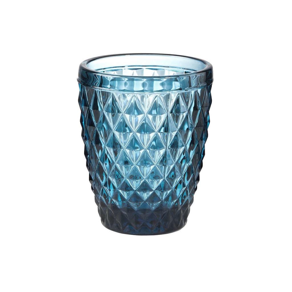 MONT FLEURI Sklenice trojúhelník 230 ml - modrá