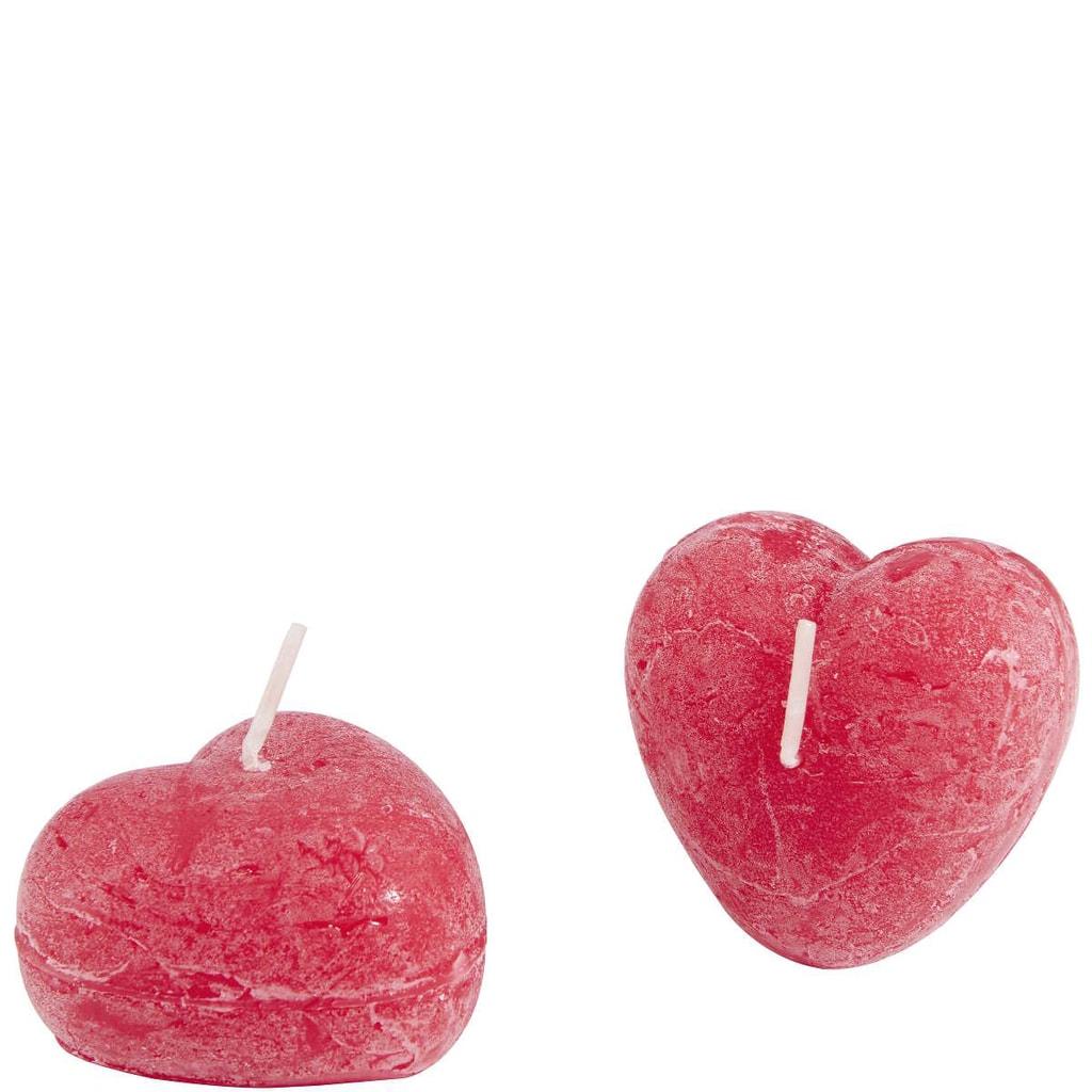 HEART Svíčka ve tvaru srdce, set 2ks