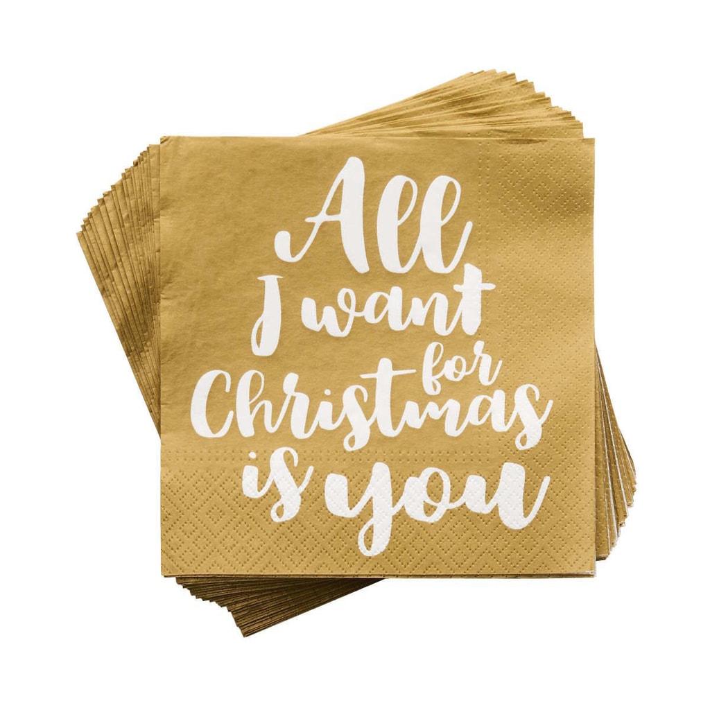 """APRÉS Papírové ubrousky """"All I want for Christmas"""""""