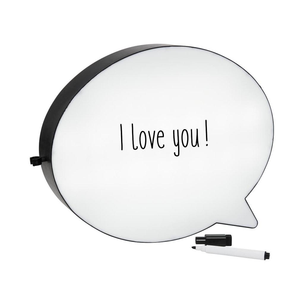 TALK TALK Světelný box bublina, napájení bateriemi nebo kabelem