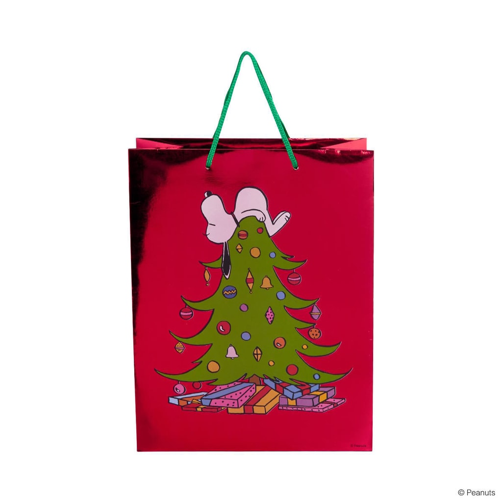 PEANUTS Dárková taška Snoopy na stromě velká