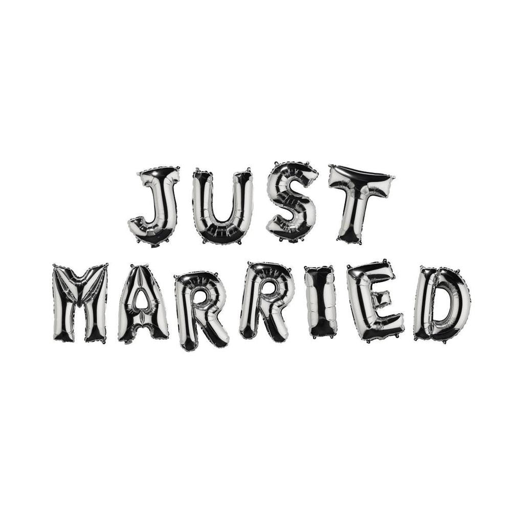 "UPPER CLASS Fóliový balónek ""JUST MARRIED"""