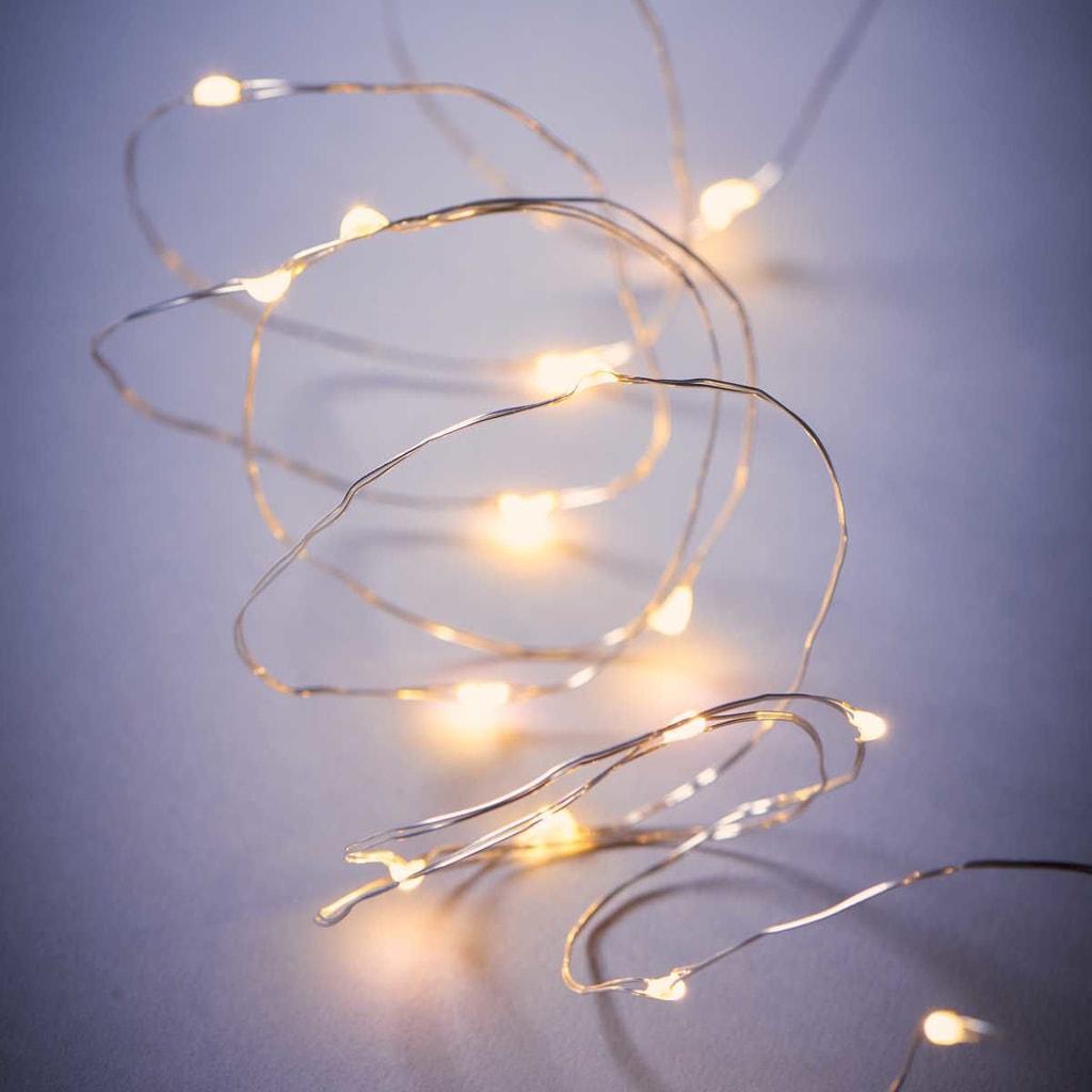 BRIGHT NIGHT Světelný drát stříbrný 20 světel
