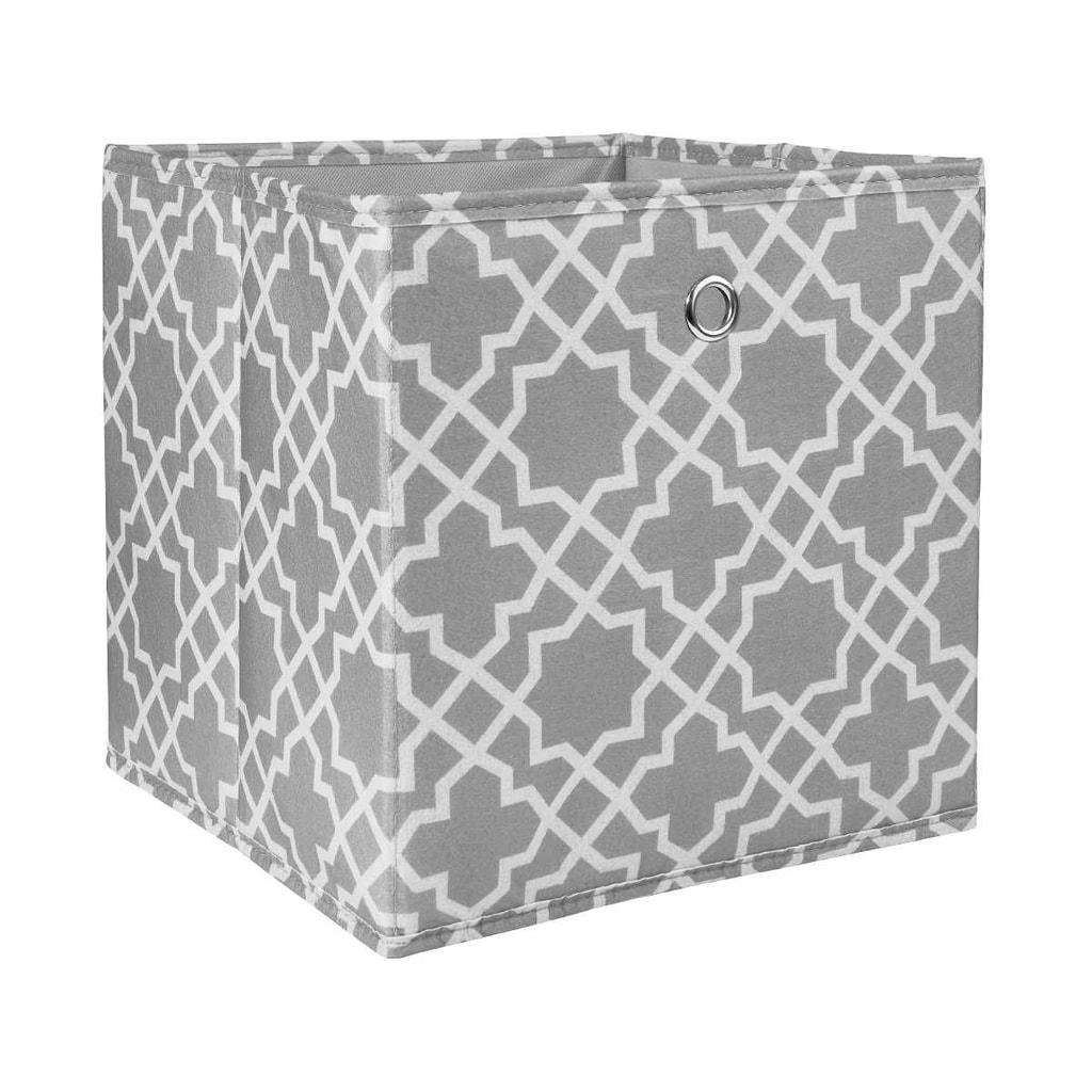 TIDY UP Úložný box vzor dlaždiček - šedá