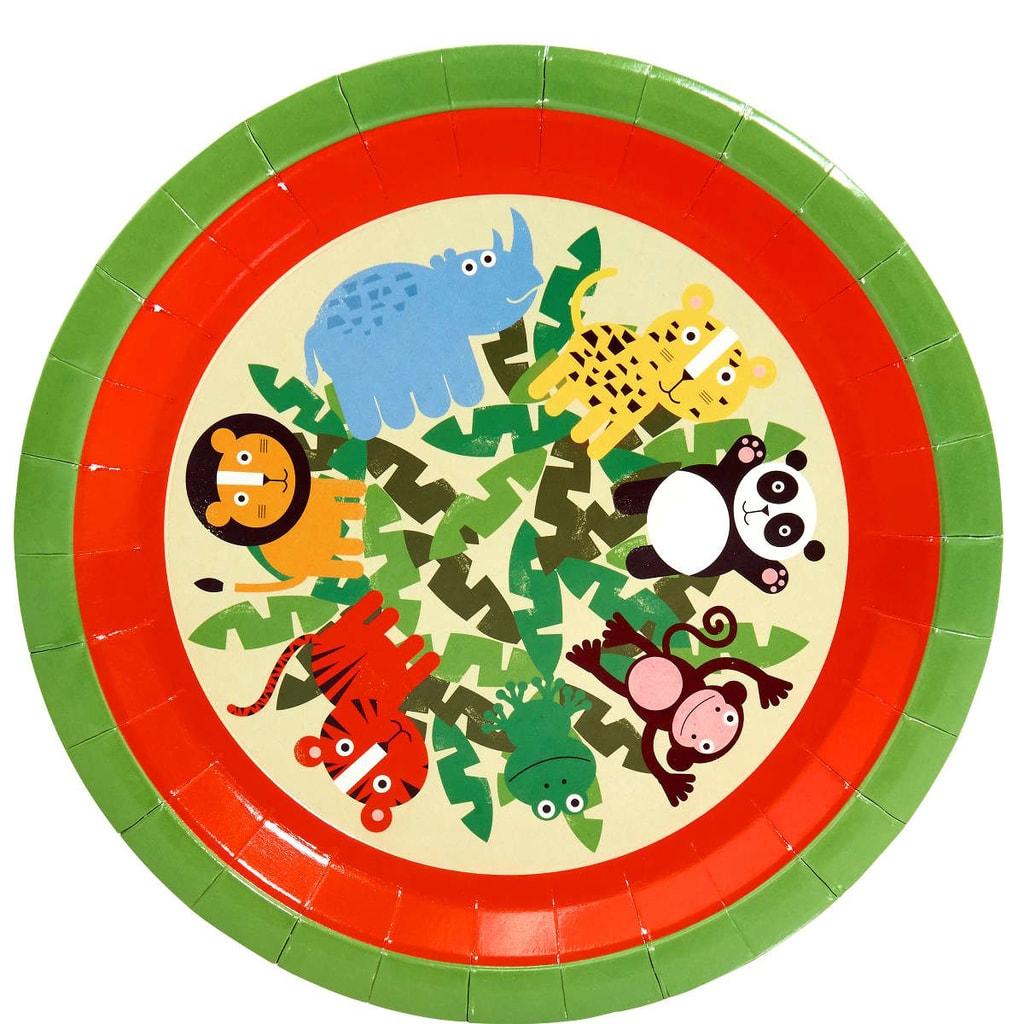 JUNGLE KIDS Papírové talíře, 10 ks