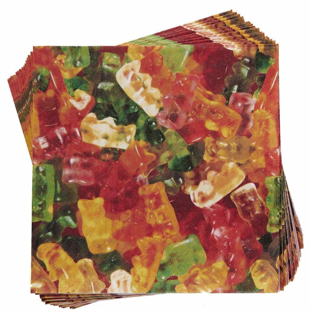 Fotografie APRÉS Papírové ubrousky gumoví medvídci