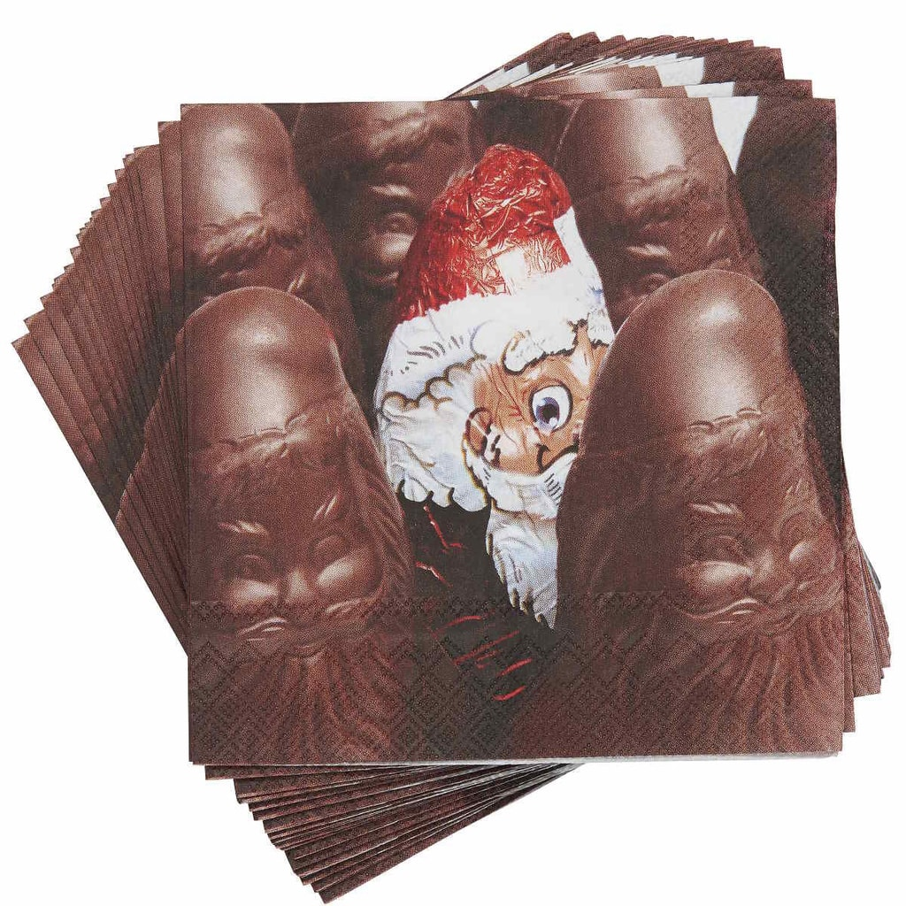 APRÉS Papírové ubrousky čokoládový Santa