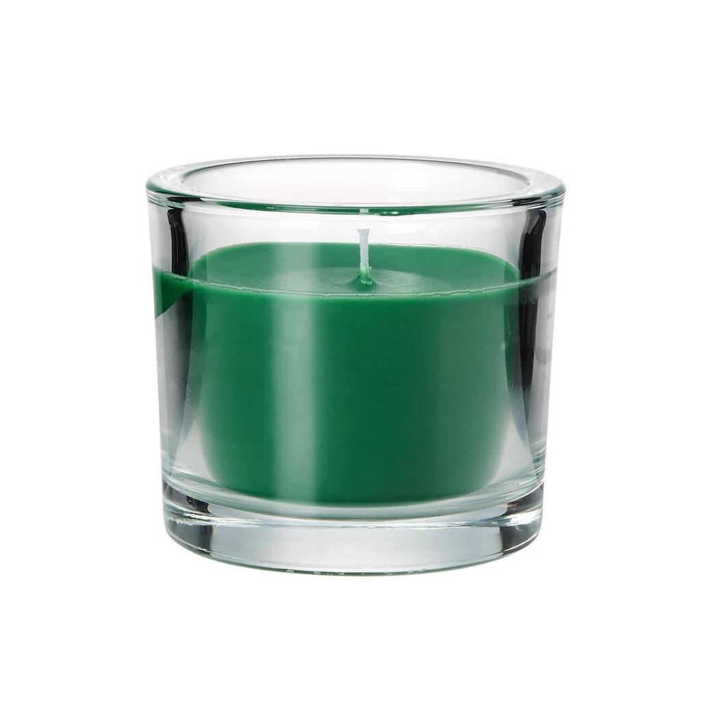 SCENTS Vonná svíčka ve sklenici vanilka - zelená