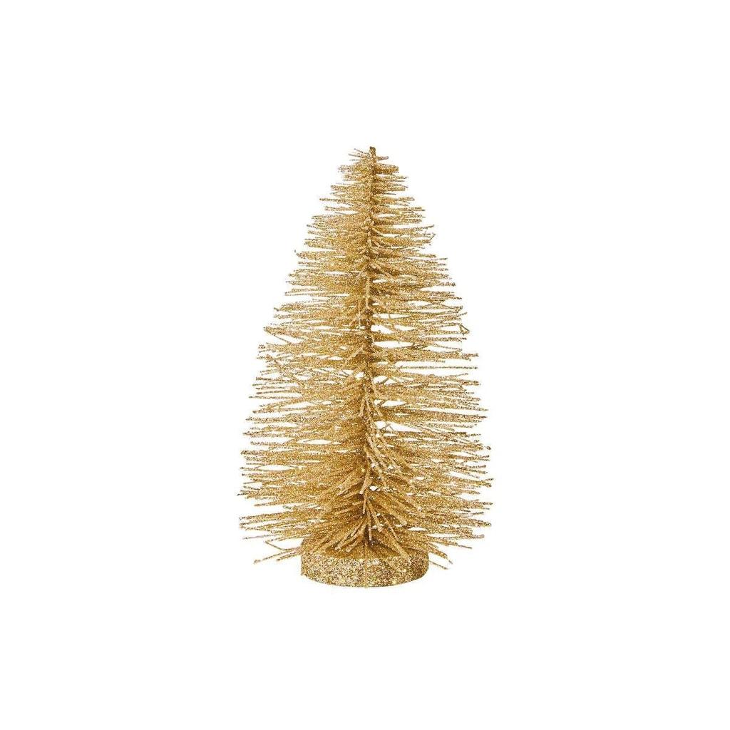 X-MAS Stromeček třpytivý 22 cm - zlatá