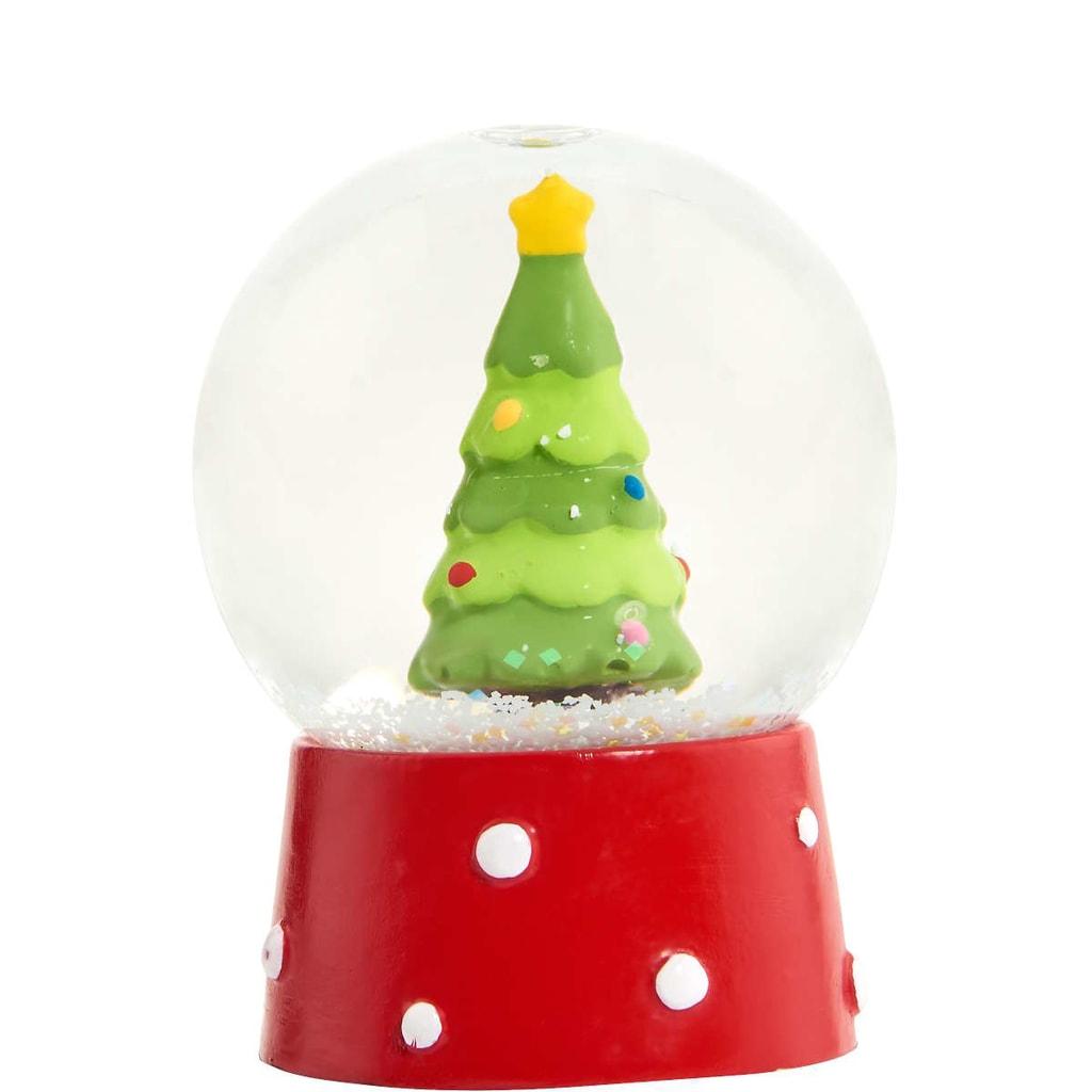 X-MAS Sněhová koule vánoční stromeček