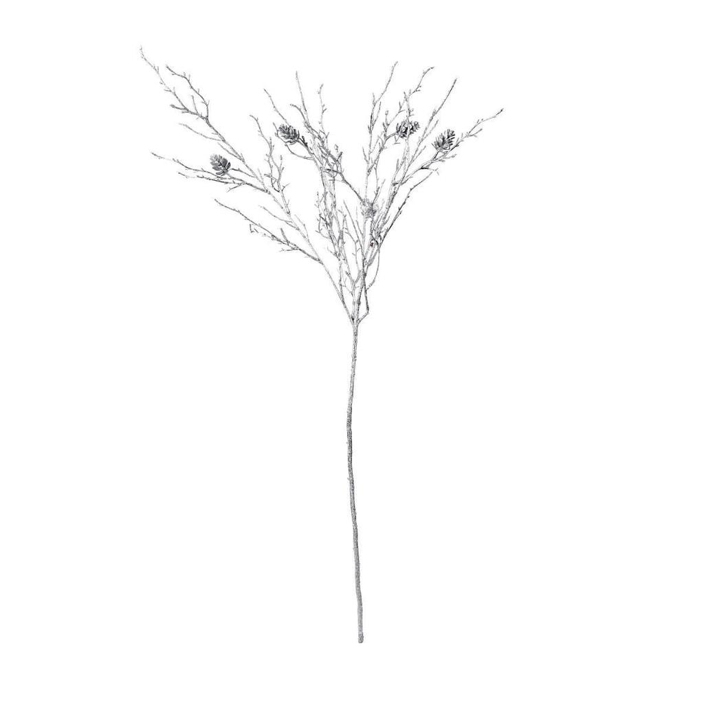 WINTERGREEN Větvička se šiškami 88 cm