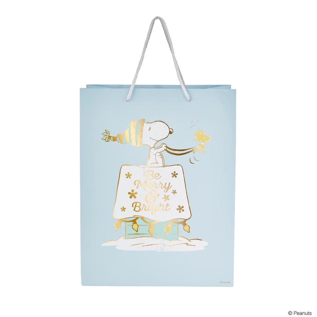 """PEANUTS Dárková taška Snoopy """"Merry & Bright"""" 13,5 cm"""