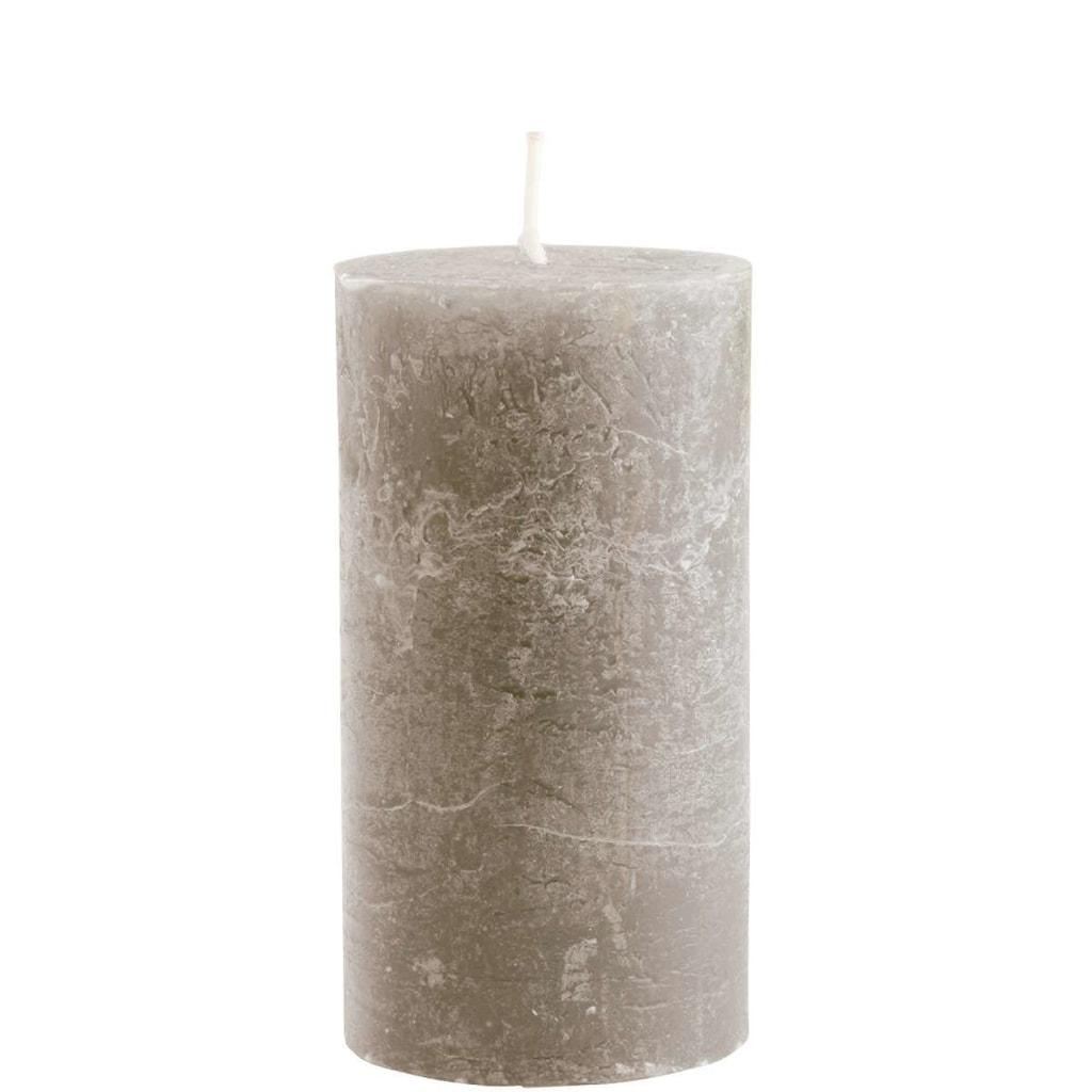RUSTIC Svíčka 13 cm - tm. šedá