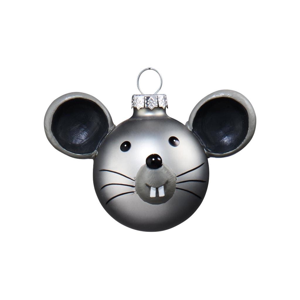 HANG ON Skleněná koule myš